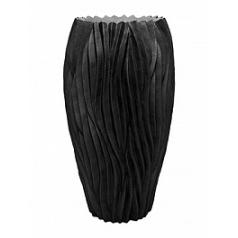 Кашпо Fleur Ami River black, чёрного цвета  Диаметр — 38 см