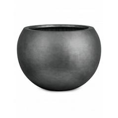 Кашпо Fleur Ami Royal bowl titanium grey, серого цвета  Диаметр — 40 см