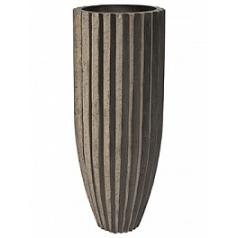 Кашпо Fleur Ami Sahara planter black, чёрного цвета stripes  Диаметр — 40 см