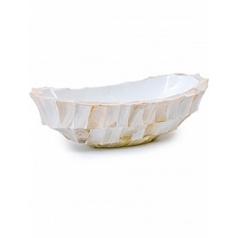 Кашпо Fleur Ami Shell boat mother of pearl white, белого цвета Длина — 46 см