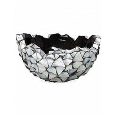 Кашпо Fleur Ami Shell bowl mother of pearl под цвет серебра-blue, голубого/синего цвета  Диаметр — 60 см