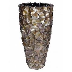 Кашпо Fleur Ami Shell mother of pearl brown, коричнево-бурого цвета  Диаметр — 50 см