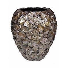 Кашпо Fleur Ami Shell mother of pearl brown, коричнево-бурого цвета  Диаметр — 74 см