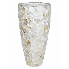 Кашпо Fleur Ami Shell mother of pearl white, белого цвета  Диаметр — 50 см