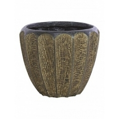 Кашпо Fleur Ami Firewood brown, коричнево-бурого цвета  Диаметр — 34 см