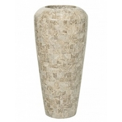 Кашпо Fleur Ami Geo cappuccino marble  Диаметр — 35 см