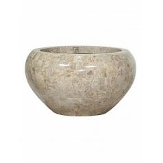 Кашпо Fleur Ami Geo crown cappuccino marble  Диаметр — 50 см