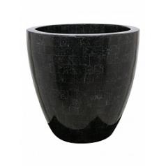 Кашпо Fleur Ami Geo cup black, чёрного цвета polished  Диаметр — 40 см