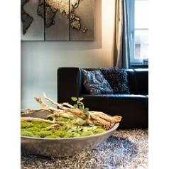 Кашпо Fleur Ami Glory bowl aluminium  Диаметр — 100 см