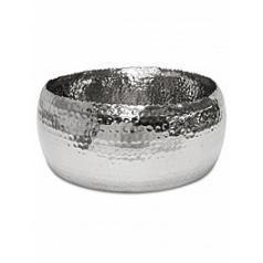 Кашпо Fleur Ami Hoop bowl polished aluminium  Диаметр — 31 см