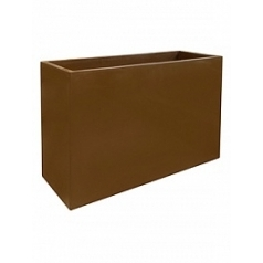 Кашпо Fleur Ami Inspiration block hazelnuth brown, коричнево-бурого цветаy Длина — 90 см