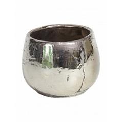 Кашпо Fleur Ami Luxury ancient chrome  Диаметр — 18 см