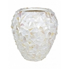 Кашпо Fleur Ami Shell mother of pearl white, белого цвета  Диаметр — 74 см