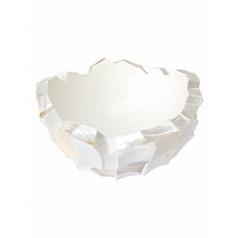 Кашпо Fleur Ami Shell mother of pearl white, белого цвета  Диаметр — 40 см