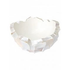 Кашпо Fleur Ami Shell mother of pearl white, белого цвета  Диаметр — 60 см