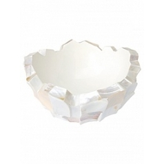 Кашпо Fleur Ami Shell mother of pearl white, белого цвета  Диаметр — 70 см
