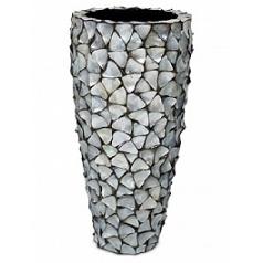 Кашпо Fleur Ami Shell planter mother of pearl под цвет серебра-blue, голубого/синего цвета  Диаметр — 50 см