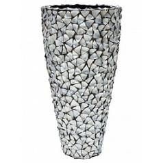 Кашпо Fleur Ami Shell planter mother of pearl под цвет серебра-blue, голубого/синего цвета  Диаметр — 74 см
