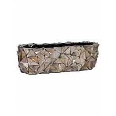 Кашпо Fleur Ami Shell table top planter brown, коричнево-бурого цвета mother of pearl Длина — 60 см