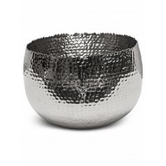 Кашпо Fleur Ami Taza bowl polished aluminium  Диаметр — 28 см