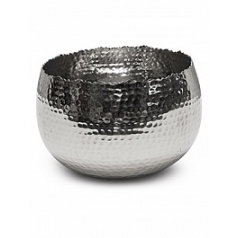 Кашпо Fleur Ami Taza bowl polished aluminium  Диаметр — 21 см