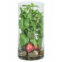 Композиция из искусственных растений basil tomatos stones  Диаметр — 15 см