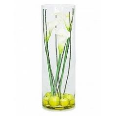 Композиция из искусственных растений calla white, белого цвета bamboo apples  Диаметр — 25 см