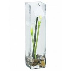 Композиция из искусственных растений calla white, белого цвета bamboo stones Длина — 10 см