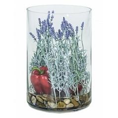 Композиция из искусственных растений lavender bell pepper stones  Диаметр — 25 см