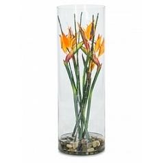 Композиция из искусственных растений strelitzia orange bamboo stones Длина — 10 см Диаметр — 25 см