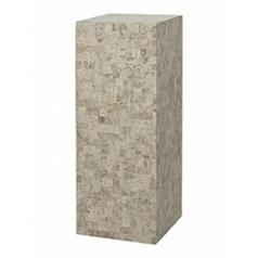 Пьедестал Fleur Ami Geo cappuccino marble Длина — 35 см Диаметр — 35 см