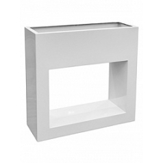 Кашпо Livingreen barrier holey design polished brilliant white, белого цвета Длина — 90 см