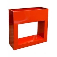 Кашпо Livingreen barrier holey design polished flame red, красного цвета Длина — 90 см