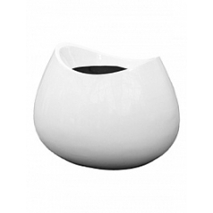 Кашпо Livingreen blob 1 polished brilliant white, белого цвета Длина — 65 см