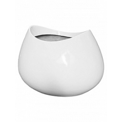 Кашпо Livingreen blob 3 polished brilliant white, белого цвета Длина — 110 см