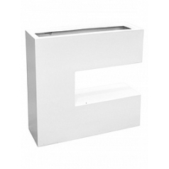 Кашпо Livingreen c planter 1 matt brilliant white, белого цвета Длина — 90 см