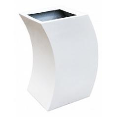 Кашпо Livingreen curvy marilyn 1 polished brilliant white, белого цвета Длина — 35 см