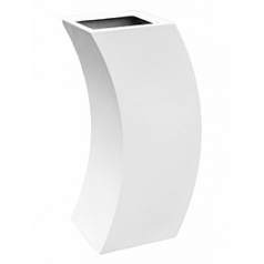 Кашпо Livingreen curvy marilyn 2 polished brilliant white, белого цвета Длина — 35 см