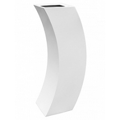 Кашпо Livingreen curvy marilyn 3 polished brilliant white, белого цвета Длина — 35 см