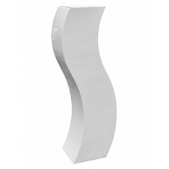 Кашпо Livingreen curvy s2 polished brilliant white, белого цвета Длина — 35 см