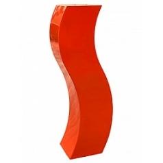 Кашпо Livingreen curvy s2 polished flame red, красного цвета Длина — 35 см