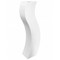 Кашпо Livingreen curvy s3 polished brilliant white, белого цвета Длина — 35 см