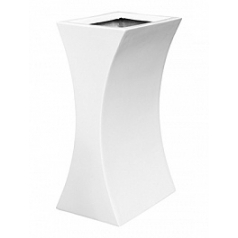 Кашпо Livingreen curvy sophia 1 polished brilliant white, белого цвета Длина — 26 см