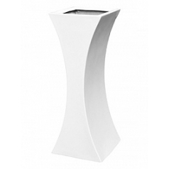 Кашпо Livingreen curvy sophia 2 polished brilliant white, белого цвета Длина — 35 см