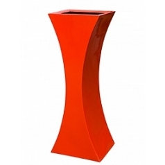 Кашпо Livingreen curvy sophia 3 polished flame red, красного цвета Длина — 46 см