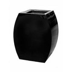 Кашпо Livingreen curvy ursula 1 polished jet black, чёрного цвета Длина — 51 см