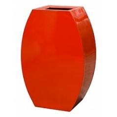 Кашпо Livingreen curvy ursula 2 polished flame red, красного цвета Длина — 59 см