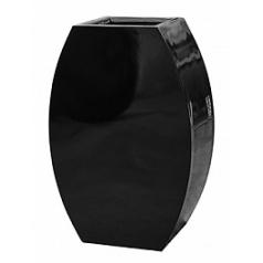 Кашпо Livingreen curvy ursula 2 polished jet black, чёрного цвета Длина — 59 см