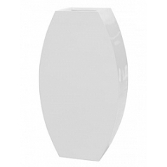 Кашпо Livingreen curvy ursula 3 polished brilliant white, белого цвета Длина — 67 см