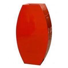Кашпо Livingreen curvy ursula 3 polished flame red, красного цвета Длина — 67 см